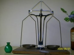 The balance scale was useful for measuring herbal and other preparations of all kinds.