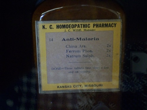 Anti-malaria medication.  The homeopathic Ferrum Phos is considered a 'polycrest' remedy in homeopathic medicine today.