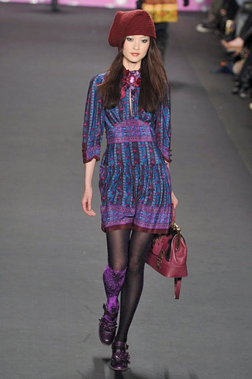 Model Du Juan and Designer Anna Sui