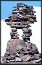 This is the Inuit Inukshuk that guided the Eskimos.