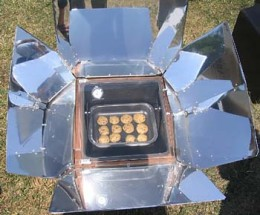 Light And Heat From The Sun Is Absorbed To Create A Cooking Surface