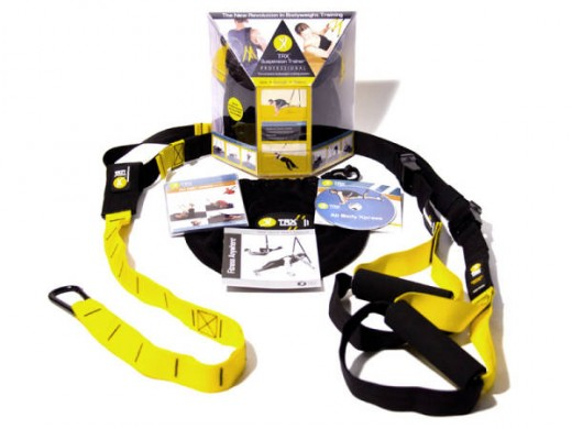 The TRX suspension trainer. Born in the u.S. Navy Seals.  Gym in a bag, anywhere you go.