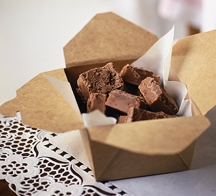 A gift of chocolate fudge - bbcgoodfood.com
