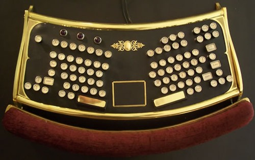 The Steampunk Ergo Keyboard