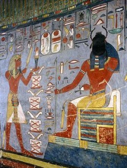Ramses I offering gifts to Atum Ra Kheperi. Image Credit: myopera.com