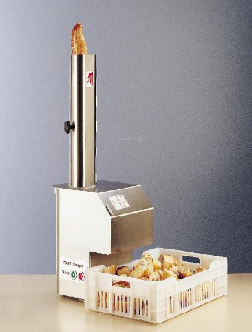 The phallic french bread cutting machine