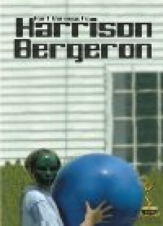 Harrison Bergeron was made into a film both in 1995 and 2006. Here's a photo from the 2006 version.