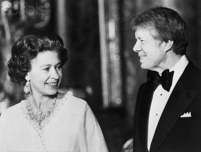 Queen Elizabeth with Richard Nixon