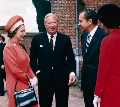 Queen Elizabeth with Gerald Ford