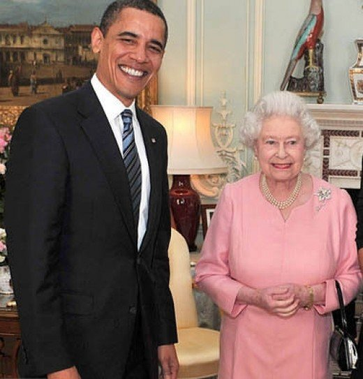 Queen Elizabeth with Barack Obama