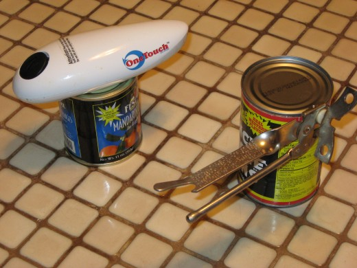 Traditional and Modern Can Openers in Action