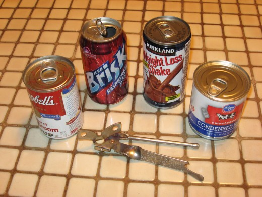 Many modern cans can be opened without the aid of a can opener.