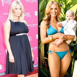 Actress Poppy Montgomery before and after P90X
