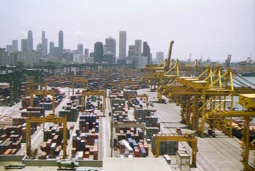 Singapore Harbour, worlds busiest port