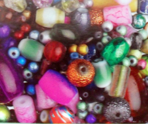 Jewelry beads can be purchased in all sizes, shapes, colors and materials.