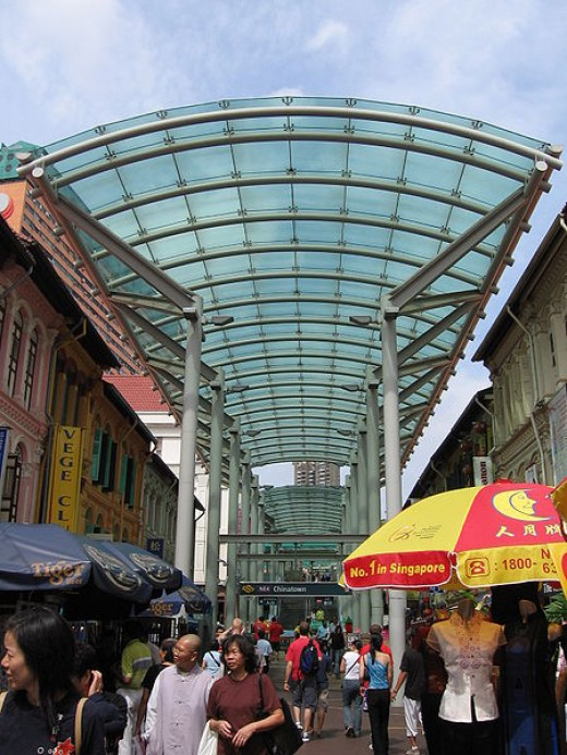 entrance to the chinatown at Singapore