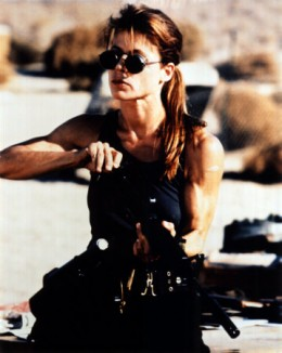 Sarah Connor, played by Linda Hamilton, Terminator, 1984