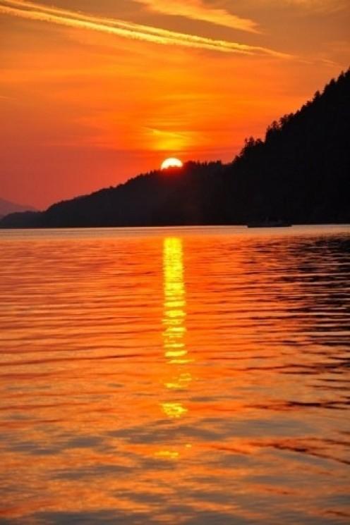 Galiano Island at sunset