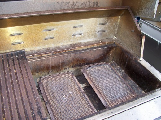 Infrared burners get so hot, most grease or weather residue just burns away.  The infrared grill burners should never need to be replaced.