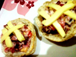 Tuna - Sausage Wheat Bread (Pandesal) Toasted in  Eden Cheese
