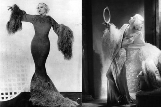 Mae West and Jean Harlow. Small Breasted Women