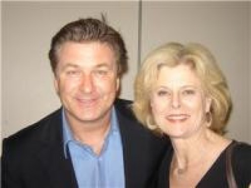 Owner Ms. Mae's twin and acting teacher Frances Welter with TV/Film star Alec Baldwin