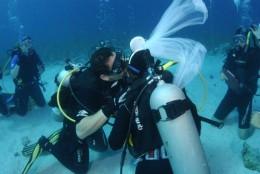 Scuba Diving Wedding Underwater