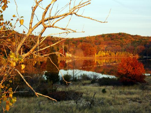 Here is another view of the small lake just a short walk from Oval beach in Saugatuck.  When the fall colors are at their peek.