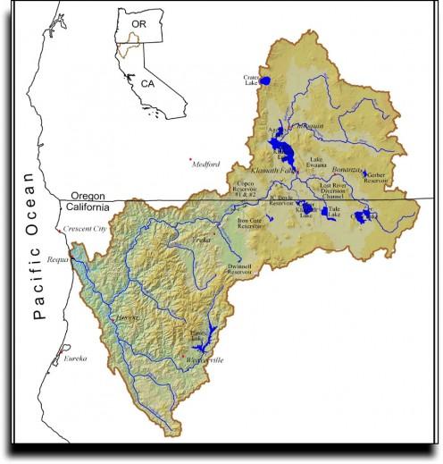 The Klamath River watershed