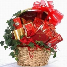 Elegant gourmet chocolate gift basket from Sweet Wishes For You!