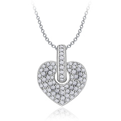 Diamond Heart Necklace Available at Adiamor