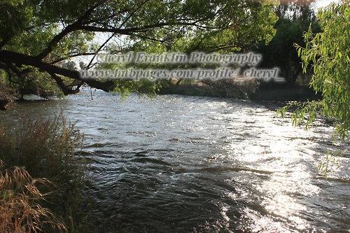 River that runs through a local park.