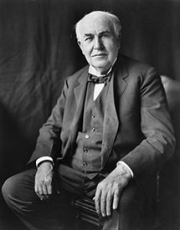 Thomas Alva Edison, inventor of the light bulb & Motion picture   Source:wikipedia