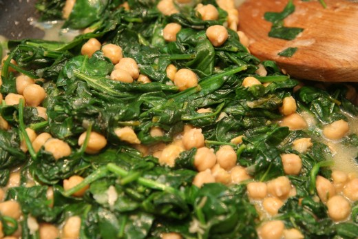 Lemon, chickpea and spinach