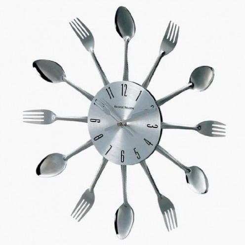 Spoon and Fork Wall Clock by George Nelson