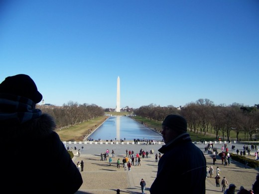 The view from the steps of the Lincoln Memorial