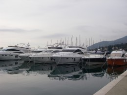 A marina with its many yachts