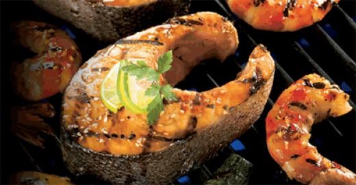 Salmon is Great on a Cedar Plank Soaked in Water.