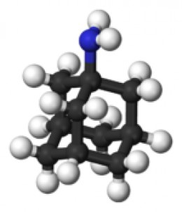 Amantadine molecule. Image credit Wikicommons.