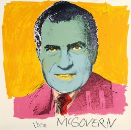 "Warhol told viewers to ""Vote McGovern"" with this Richard Nixon portrait"