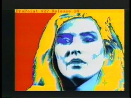 Debbie Harry (created live with an Amiga computer)