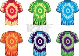Tie-dyed shirts from the seventies