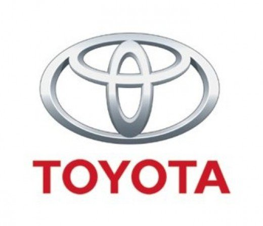 Toyota Symbol - Toyota today uses a logo which has three ovals. Image in Public Domain.