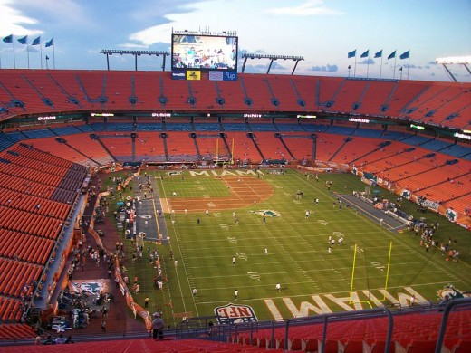 SUN LIFE Stadium, MIAMI, FLORIDA--HOME OF THE SUPER BOWL XLIV