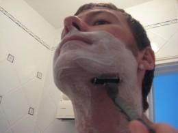 shaving up