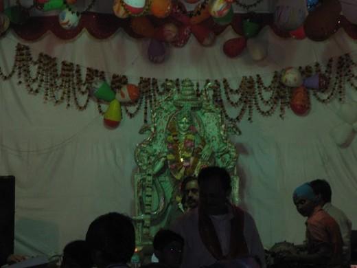 Saraswati Puja at Math Ka Kua, Johri Bazar, Jaipur, Rajasthan on Basant Panchami
