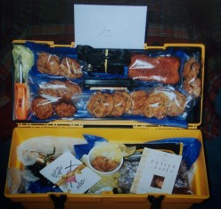 Box was packed with not only a few quality items for the men, but homemade goodies from the ladies at church.  This was a thank you gift, for 3 men who helped complete work a church needed.