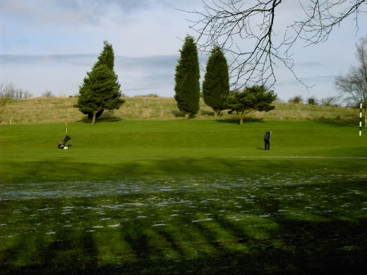 The golf course is set in pleasant countryside