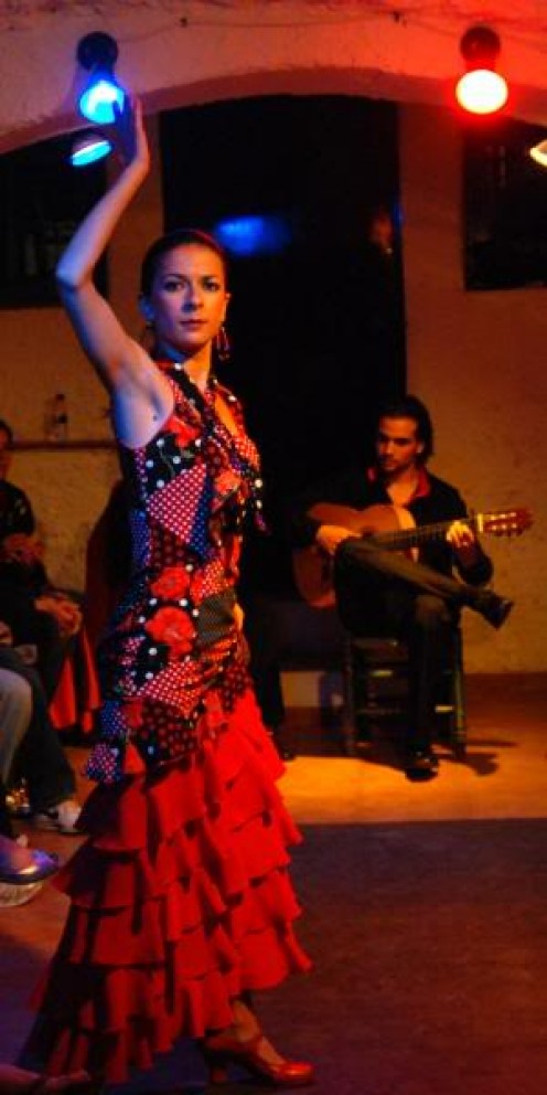 Flamenco dancer in Granada, Spain