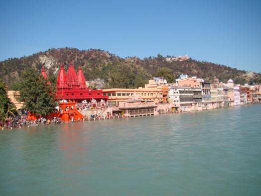 The holy river Ganga at Hardwar